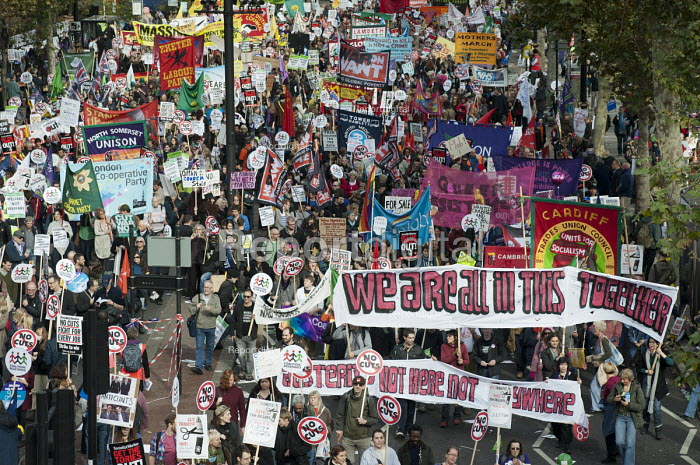 We Are All In This Together. A Future that Works: TUC march and rally against austerity, London. - Philip Wolmuth - 2012-10-20