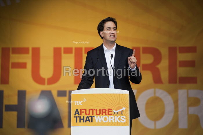 David Miliband. A Future that Works: TUC march and rally against austerity, London. - Philip Wolmuth - 2012-10-20