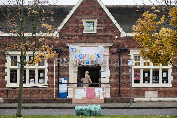 Friern Barnet library, which has been restocked and reopened as The People's Library and community hub by activists and local residents. - Philip Wolmuth - 2012-10-23
