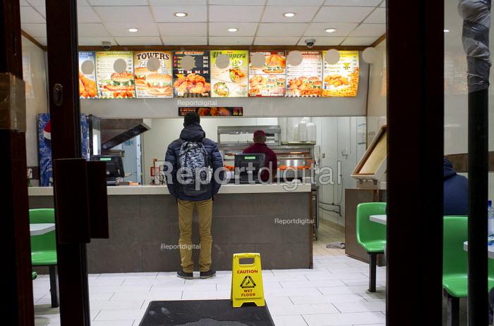 Fastfood takeaway, Cricklewood, London. - Philip Wolmuth - 2012-11-15
