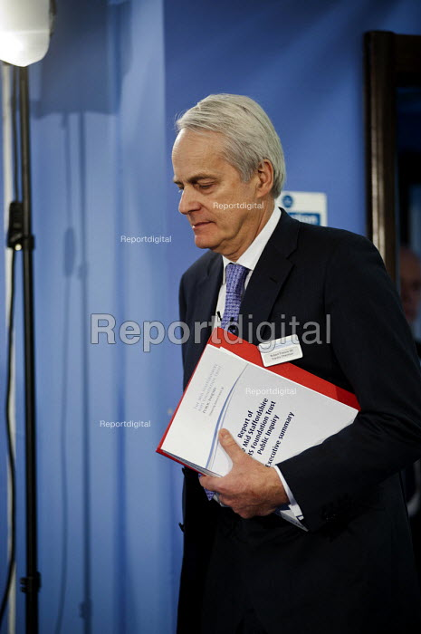 Robert Francis QC releases his Public Inquiry Report into failings at the Mid-Staffordshire NHS Foundation Trust. Westminster, London. - Philip Wolmuth - 2013-02-06