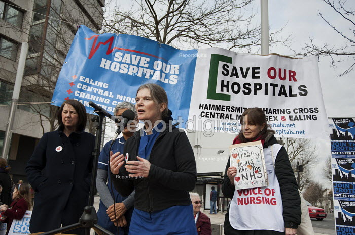 Save our Hospitals. A rally in protest at proposed closures of the A&E department at Hammersmith and at Charing Cross hospital. - Philip Wolmuth - 2013-02-16