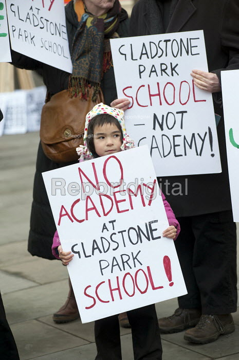 Parents and children from Gladstone Park Primary School in Brent join a teachers rally in Westminster called to protest at government policies on pensions, pay & conditions, academies and education cuts. - Philip Wolmuth - 2013-03-13