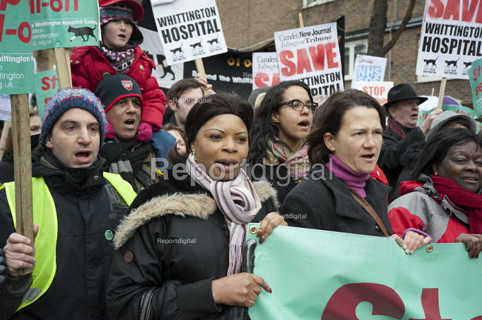 Save Whittington Hospital Campaign march and rally, Islington, London. - Philip Wolmuth - 2013-03-16