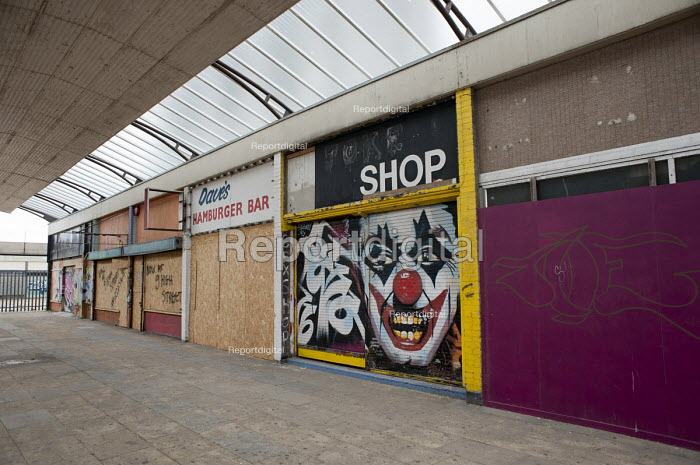 The Joke shop. Boarded up and empty shops in Margate, Kent. - Philip Wolmuth - 2013-04-16