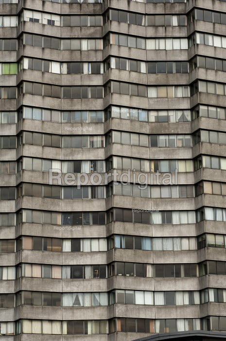 Arlington House, an eighteen storey 1960s residential apartment block designed by architects Russell Diplock Associates, is a landmark on the Margate seafront. - Philip Wolmuth - 2013-04-16
