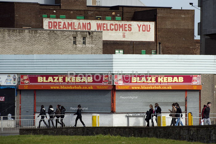 Dreamland welcomes you. Empty shops in Margate, Kent. The Dreamland amusement park has been closed since 2005. - Philip Wolmuth - 2013-04-16
