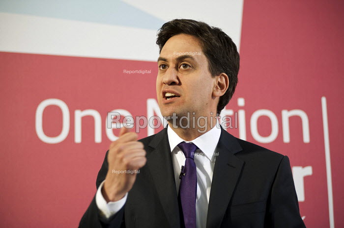 Ed Miliband MP speaking on on One Nation Politics and the link with trade unions, Labour Party press conference, London. - Philip Wolmuth - 2013-07-09
