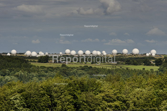 Menwith Hill RAF base in North Yorkshire is part of a global network used to spy on all forms of international telecommunications. It is run by the US National Security Agency (NSA) and is the largest secret intelligence-gathering system outside the USA. - Philip Wolmuth - 2013-08-09