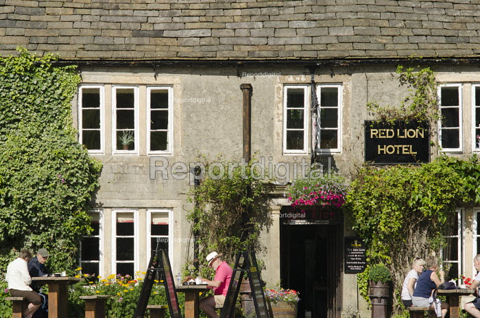 The Red Lion Hotel and public house in the village of Burnsall, Yorkshire Dales National Park. - Philip Wolmuth - 2013-08-09