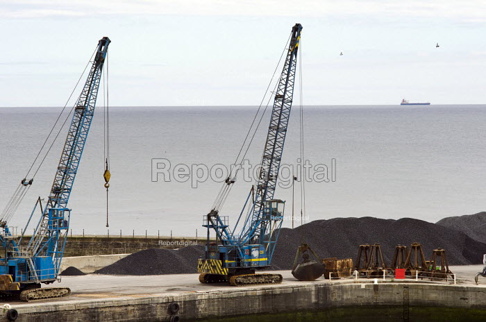 Seaham, County Durham. Formerly known as Seaham Harbour, it served as a port for the export of coal until the last local pit closed in 1992. The harbour now functions at a much reduced level, importing coal from Eastern Europe and elsewhere. - Philip Wolmuth - 2013-08-10