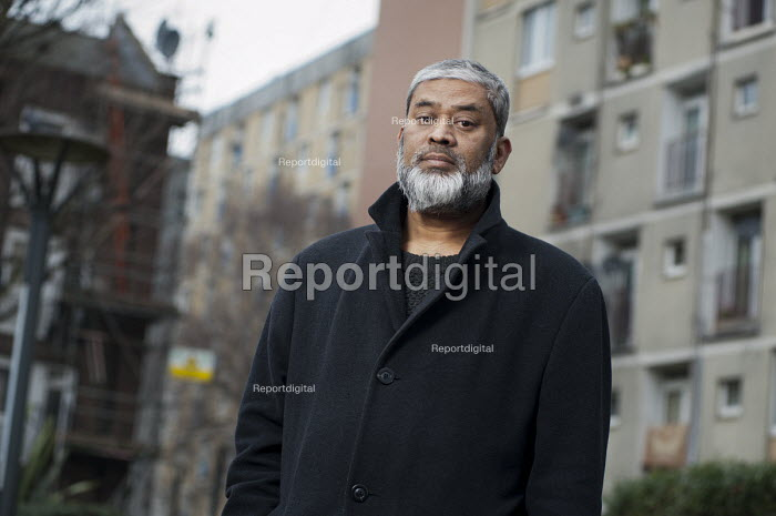 Mohammed Joynal-Uddin, resident of Regents Park Estate and Chair of West Euston Partnership, and whose home is threatened with demolition under plans for the HS2 high speed railway line. - Philip Wolmuth - 2013-02-12