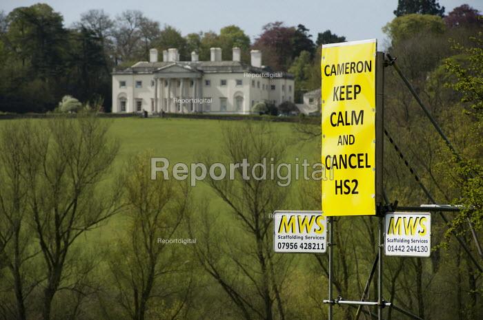 Anti-HS2 roadside posters in Buckinghamshire. - Philip Wolmuth - 2013-05-06