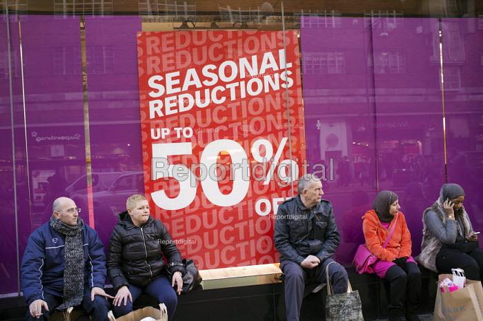 January sales, Primark, Oxford Street, London. - Philip Wolmuth - 2014-01-02