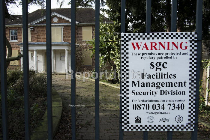 Dryades, a vacant mansion in The Bishops Avenue in north London, is for sale for �30 million after repossession from former Pakistan privatisation minister Waqar Ahmed Khan. Many other mansions in the street, also known as Billionaire's Row, have been left vacant by their mostly overseas owners. - Philip Wolmuth - 2014-02-03