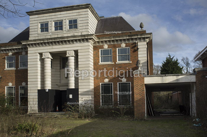One of a large number of empty mansions in The Bishops Avenue in north London. Many houses in the street, also known as Billionaire's Row, have been left vacant by their mostly overseas owners. - Philip Wolmuth - 2014-02-03