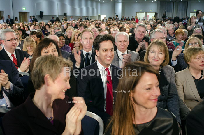 Ed Miliband MP and shadow cabinet members. Labour Party Special Conference on reform of its link to trade unions, ExCel Centre, London. - Philip Wolmuth - 2014-03-01