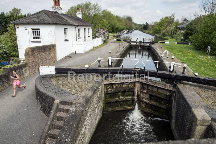 The Conservation Area around Widewater Lock on the Grand Union canal in Hillingdon will be affected by its proximity to the proposed route of the HS2 high speed rail line. - Philip Wolmuth - 2014-04-23