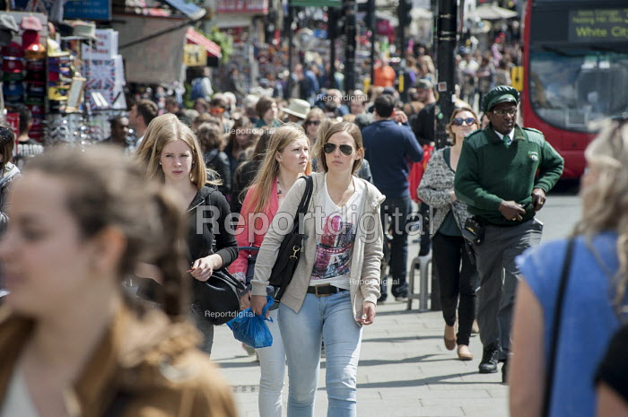 Young people in Camden High Street, Camden, London. - Philip Wolmuth - 2014-05-14