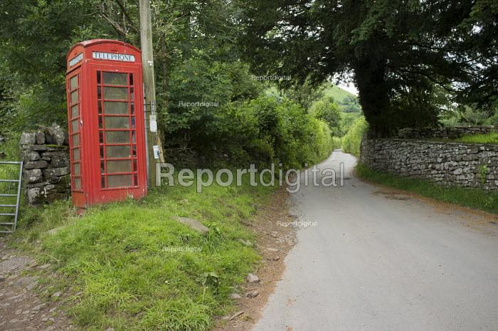 Red telephone box, Capel-y-Fin, Powys, Wales. - Philip Wolmuth - 2014-07-09