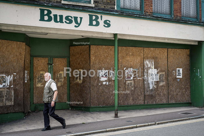 Boarded up shop in the centre of Ramsgate, one of the five most deprived seaside towns in the UK. - Philip Wolmuth - 2014-08-12