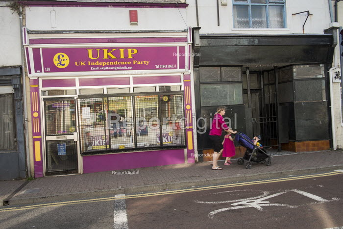 UKIP office in Ramsgate, one of the five most deprived seaside towns in the UK and part of the Thanet South Parliamentary constituency. - Philip Wolmuth - 2014-08-12