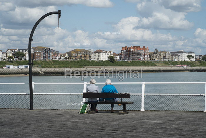 Holidaymakers on Clacton Pier. The resort is the second most deprived seaside town in the UK. - Philip Wolmuth - 2014-08-20