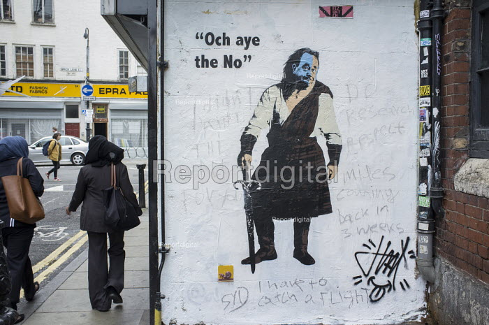 Scottish referendum No vote wall art, Shoreditch, London. - Philip Wolmuth - 2014-09-20