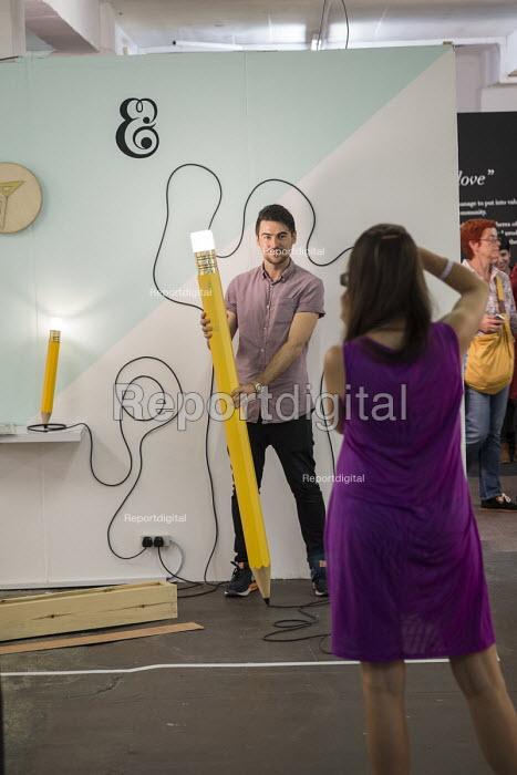 Stall at London Design Week, Truman Brewery, Brick Lane. - Philip Wolmuth - 2014-09-20
