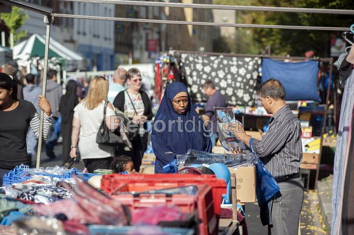 Stall at Chalton Street market, Camden, London - Philip Wolmuth - 2014-10-03