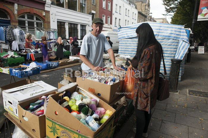 Stall at Chalton Street market, Camden, London - Philip Wolmuth - 2014-10-03