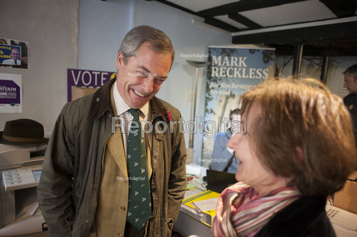 Inside the Rochester UKIP HQ. UKIP leader Nigel Farage campaign in Rochester before the Rochester and Strood by-election. - Philip Wolmuth - 2014-11-08