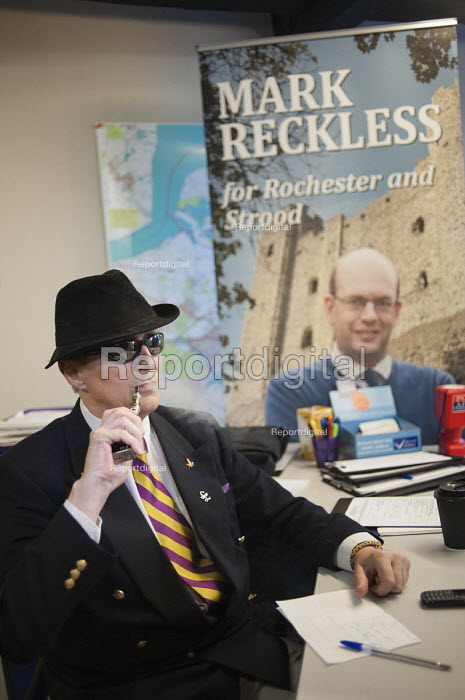 Inside the Rochester UKIP HQ., ex-Conservative MP Mark Reckless is the UKIP candidate, campaign in Rochester before the Rochester and Strood by-election. - Philip Wolmuth - 2014-11-08