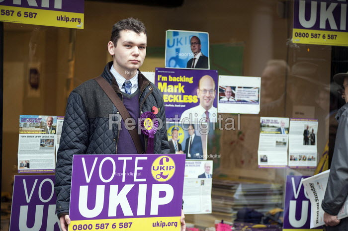 Outside the Rochester UKIP HQ. UKIP leader Nigel Farage and ex-Conservative MP Mark Reckless, the UKIP candidate, campaign in Rochester before the Rochester and Strood by-election. - Philip Wolmuth - 2014-11-08