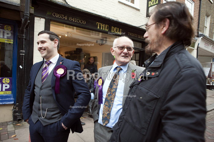 Outside the Rochester UKIP HQ. UKIP supporters from other parts of the UK campaign in Rochester before the Rochester and Strood by-election. - Philip Wolmuth - 2014-11-08