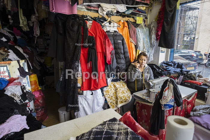 Elif Zarali has run her tailoring business from a shop on the New Era Estate for 12 years, but her lease will end in March 2015, following takeover of the estate in Hoxton, London, by US property company Westbrook Partners. - Philip Wolmuth - 2014-11-22