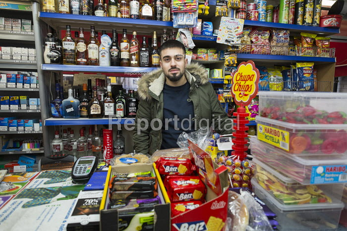 Enk Kaya set up the Caglayan Supermarket in shop premises on the New Era Estate 2 years ago, but his lease will end in April 2015, following takeover of the estate in Hoxton, London, by US property company Westbrook Partners. - Philip Wolmuth - 2014-11-22