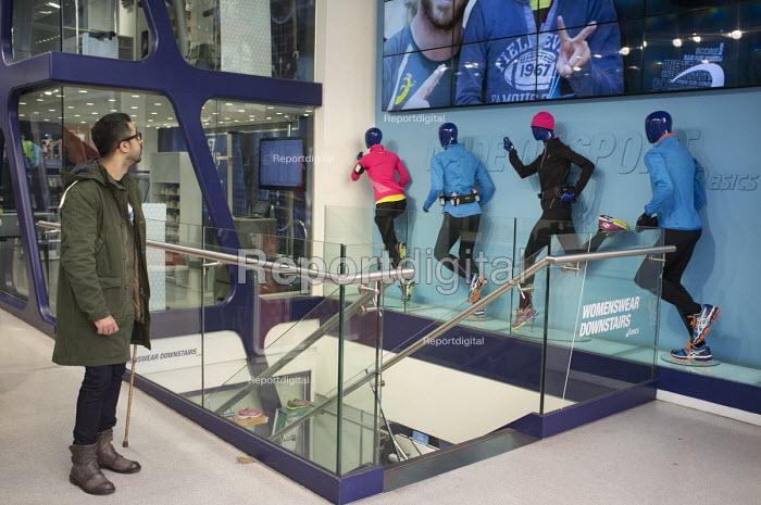 Japanese sportswear brand ASICS flagship London store, Oxford Street. - Philip Wolmuth - 2015-01-02