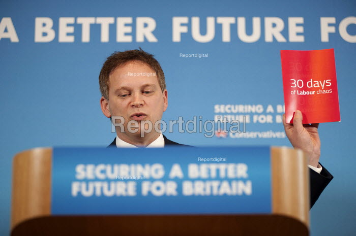 Conservative Party Chair Grant Shapps MP gives an election press conference, Westminster, London. - Philip Wolmuth - 2015-01-30
