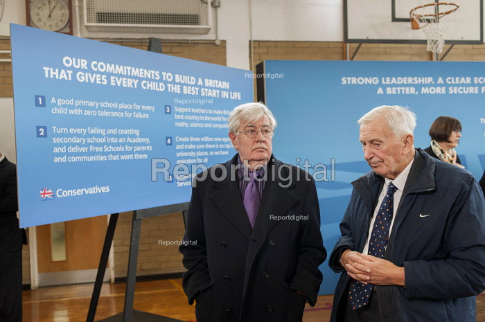 Local Conservative Association members at an afternoon tea party following a Conservative Party general election press conference at Kingsmead School, Enfield, London. - Philip Wolmuth - 2015-02-02