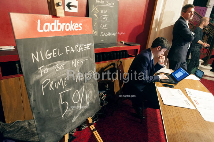 Ladbrokes stall, UKIP Spring Conference, Margate, Kent. - Philip Wolmuth - 2015-02-27