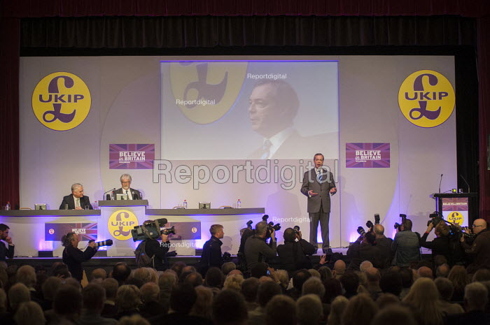 Nigel Farage MEP, UKIP Spring Conference, Margate, Kent. - Philip Wolmuth - 2015-02-27