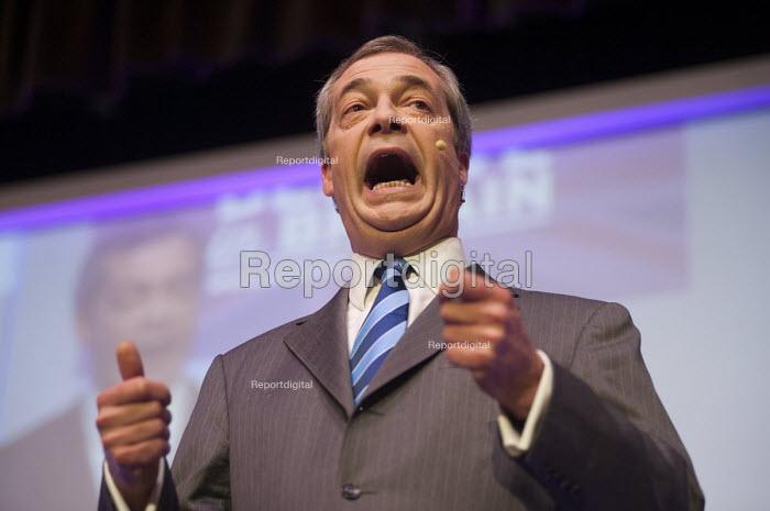 Nigel Farage MEP, UKIP Spring Conference, Margate, Kent. - Philip Wolmuth - 2015-02-27