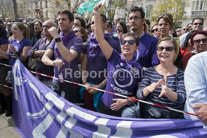 Podemos rally in Malaga a week before Andalusian parliamentary elections in which the grassroots party is hoping to make significant gains. - Philip Wolmuth - 2015-03-14