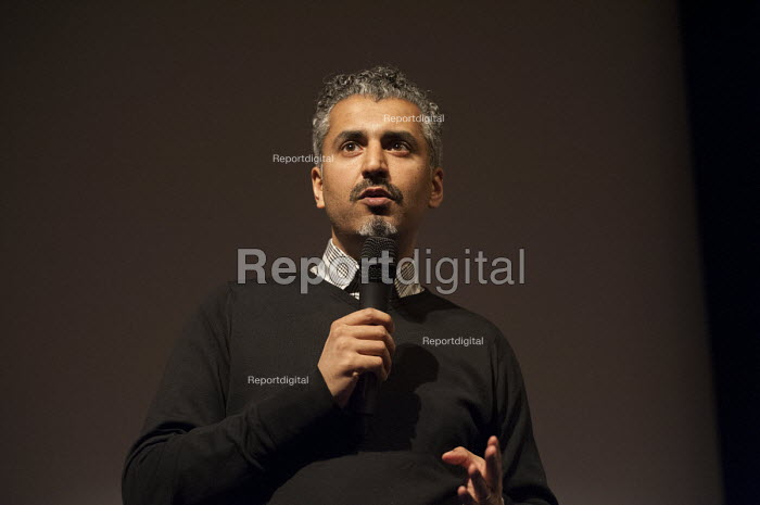 Maajid Nawaz, Liberal Democrats Co-Founder and Chairman of the Quilliam Foundation, General election hustings in Hampstead and Kilburn, the second most marginal constituency in the UK - Philip Wolmuth - 2015-03-24