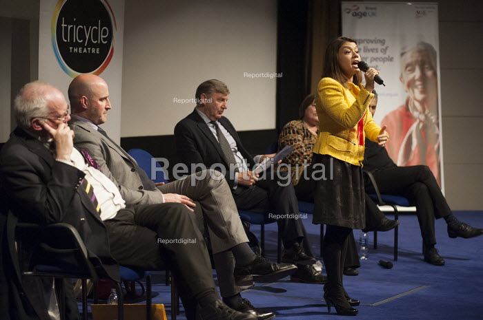 Tulip Siddiq (Labour). General election hustings in Hampstead and Kilburn, the second most marginal constituency in the UK. - Philip Wolmuth - 2015-03-24