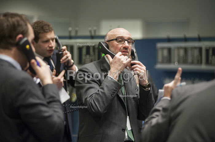 Last trading session of the day on the floor of the London Metal Exchange, on a day of high price volatility. The LME is the last remaining floor in the City of London to trade using open outcry. - Philip Wolmuth - 2015-01-15