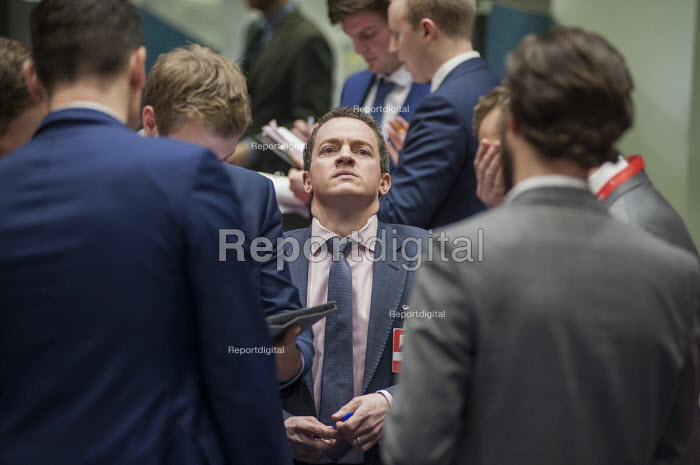 Traders after the last trading session of the day on the floor of the London Metal Exchange, on a day of high price volatility. The LME is the last remaining floor in the City of London to trade using open outcry. - Philip Wolmuth - 2015-01-15