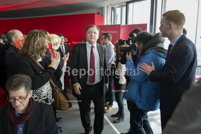 Ed Balls MP. Labour Party general election campaign launch, Stratford, London. - Philip Wolmuth - 2015-03-27