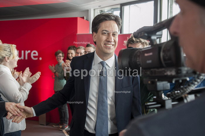 Ed Miliband MP. Labour Party general election campaign launch, Stratford, London. - Philip Wolmuth - 2015-03-27
